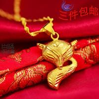 al por mayor compras hermoso collar-Mujeres hermosas de chorro de arena de zorro collar de joyería en oro chapado en oro durante mucho tiempo no se desvanece