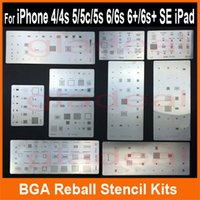 bga stencils - 10pcs Directly Heating IC Chip BGA Reballing Stencil Kits Set Solder template for iphone s s s Plus ES iPad