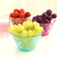 Wholesale Multifunctional Transparent Food Grade Dried Fruit Nuts Bowl Simple Snack Bowls Fashion Creative Kitchen Fruit Plate
