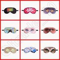 Wholesale 200PCS LJJH1324 Lovely Cartoon emoji Letter leaf Pattern Travel Sleep Rest Eye Mask Eye Cover Patch