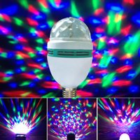 Wholesale New Crystal Magic Ball Stage Effect Light Led RGB Rotating Big Lamp Disco DJ Party O6