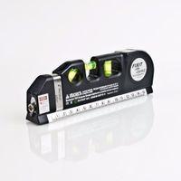 Wholesale 1Pc Popular Multipurpose Level Laser Horizon Vertical Measure Tape Aligner Bubbles Ruler