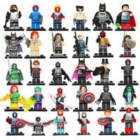 Wholesale 30pcs Super heroes DC Marvel avengers MiniFigures Toy Civil war Minifigures Building Blocks Sets Bricks Toys Compatible with Legoeid