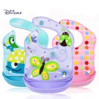 Wholesale 2016 New Hot Detachable Type Baby Bibs ECO Friendly PEVA Cotton D Saliva Towel Cartoon Infant Burp Cloths Toddlers Bib