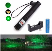 beam battery - Military nm mw Green Laser Pointer Lazer Pen Burning Beam Battery Burning Match Charger