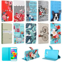 apple notebook skins - London Paris Wallet Leather Case Stand TPU Card Pouch Flower Notebook For Iphone SE S S Plus Samsung Galaxy J120 J1 G530 Skin