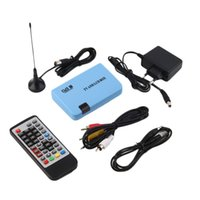 Wholesale High Quality Digital DVB T Stand alone LCD TV Box Receiver Recorder Remote Control Radio Eletronic Hot
