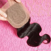 Cheap Silk Base Closure Brazilian Hair Wavy Best Quality Hair Closure 10inches to 18inches Free Shipping for1 piece