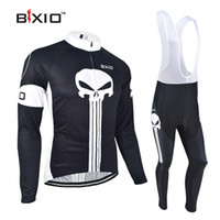 bib suit - BXIO Brand Anti Pilling Cycling Bib Sets Full Zipper Black Cycle Jerseys Long Sleeve Bike Clothing Suit Bikes Clothes BX