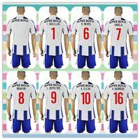 Wholesale New Product Uniforms Kit Soccer Jersey Porto I CASILLAS Varela L DEPOITRE A SILVA Varela Home White Blue Jerseys