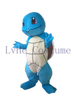 Wholesale Poke Mascot Costume Lovely Blue Turtle Squirtle Mascot costume Halloween Birthday Wedding mascot costume S001