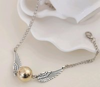 antique tv - 2016 Harry Potter snitch silver wing braclet pendant link chains sweater hand chain antique cooper antique silver smart bracelet