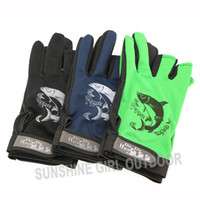 Wholesale Luva Pesca Pairs Outdoor Gloves for Fishing Cut Finger Gloves Without Fingers Non slip Fishing Gloves Colors Luvas