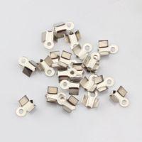 Bead Caps bead end cap - Hot x9mm End Cord Fold Crimp Bead Cap Silver Plated DIY Jewelry