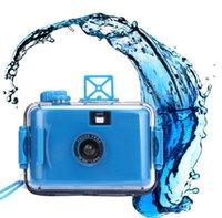 Wholesale Top Quality Vintage M Underwater Waterproof Mini mm Film Camera Colors Cheap Sport Camera Detachable Waterproof Case APR27