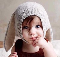 Unisex Spring / Autumn Crochet Hats Winter Baby Rabbit Ears Knitted Hat Infant Toddler Cap For Children 0-3 Yrs kikikids Girl Boy Accessories Photography Props HJIA993
