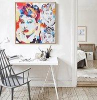 audrey hepburn pop art canvas - Audrey Hepburn Pop Colour Street Graffiti Art Decorative Figure Poster Canvas Print Home Decor Picture Wall Art for Living Room