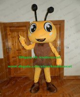 big headed ants - Innocent Yellow Ant Pismire Mascot Costume Cartoon Character Mascotte Adult Thin Legs Brown Shoes Big Head NO