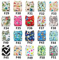 Wholesale Cartoon printing newborn breathable leak proof quick drying environmental protection cloth diapers Diaper pants Size adjustable E531