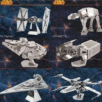 Wholesale DIY D Models Star wars ATAT Tie Fighter Kits Styles Metallic Nano Puzzle no glue required For adult Chirstmas gift Free DHL FedEx