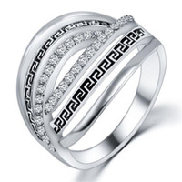 band gif - New Hot Best Quality Fashion Alloy Rose Gold Plated Fine Jewelry Zircon Ring Infinity Crystal Rings For Women Best Gif