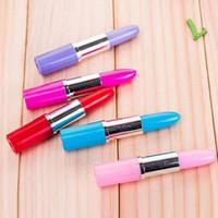 Wholesale Creative Lipstick Shape Ball Point Pens Writing Pens School Office Supplies Papelaria