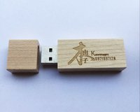 Wholesale 5 Piece No Logo Wood USB Drives Capacity Enough U Disk USB2 Environmental protection USB Flash Drives