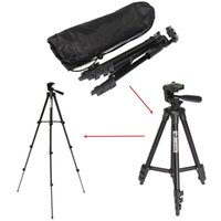 Wholesale Portable Aluminum Telescopic Tripod Stand With Bag Flexible way Head For DSLR SLR Digital Cameras Universal Tripods Y334