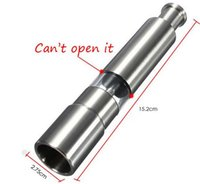 Wholesale Portable Stainless Steel Thumb Push Salt Pepper Grinder Spice Sauce Mill Grind Stick Kitchen tool Cooking Tools