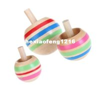 Wholesale 2016 Traditional Wooden Nostalgic Gyro Toys Three Magic Reversal Gyroscope Children s Early Educational Inverted Spinning Top