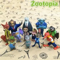 Wholesale Prettybaby Zootopia set action figure PVC toys Nick Judy model cm plastic doll toy kids gift
