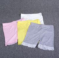 Wholesale Safty Panties for Dress Skirt Cotton Lace Girl Kids Underwear Boxers Children Girl Underwears Brief Solid Kids Clothing K8027