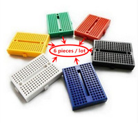 Wholesale SYB mini Bread board holes colors suit Experimental platform black white green blue yellow red mm