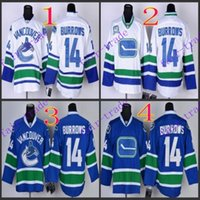 alex burrow - Stitched Vancouver Canucks Alex Burrows Blue White Blue rd White Hockey Jerseys Ice Jersey do Drop Shipping Mix Order