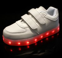 Wholesale Led Casual Youth Soles With Light Kids USB Glow Charging Child Sneakers Flashing Students For Children Boys Girls Luminous Baby Sport Shoes