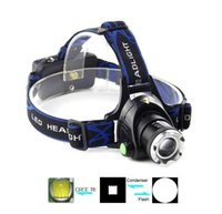 Wholesale 1800Lm Waterproof XM L T6 LED Headlight Headlamp Head Lamp Focus For Bicycle Camping Hiking outdoor hidking