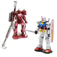 Wholesale Gundam Figures RX DIY Zaku MS D Puzzle Action Figure Metal Model Jigsaw Toys Birthday Gift for Friend