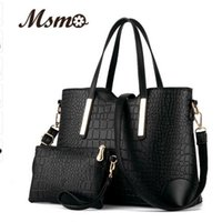 Wholesale New women handbags leather hand bag crocodile crossbody bag shoulder messenger bags clutch tote purse sets sac