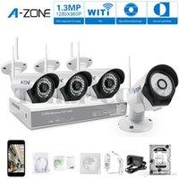 Wholesale A ZONE CH P NVR Wireless CCTV Security Camera Kit System Four TVL Megapixel Weatherproof Wifi IP Surveillance Camera Kit