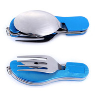 Wholesale Outdoor camping supplies Multi functional multi purpose Spoon Fork knife tableware portable tools