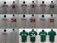 authentic white sox jersey - 2016 Hot Elite Men s Boston Red Sox Dustin Pedroia David Price David Ortiz White Green Flexbase Authentic Collection Jerseys