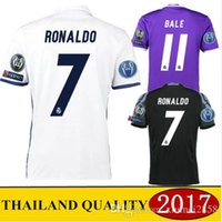 Wholesale 2016 Real Madrid home Away MANS jerseys with patch RealES Madrid RONALDO BENZEMA JAMES BALE shirt