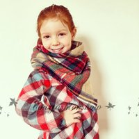 Wholesale Children Plaid Scarf Girl blanket scarf Kid Blanket Scarf Child s Tartan Scarf Christmas Scarf Gift Ideas L357 M