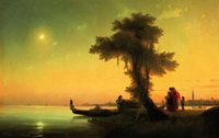 aivazovsky paintings - Ivan Constantinovich Aivazovsky View on Lagoon of Venice Pure Handicrafts Art oil painting On High Quality Canvas in custom size