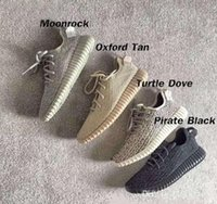 bands blue - Discount Top Quality Hot Sale Running Shoes Pirate Black Turtle Dove Oxford Tan Moonrocks Mens Womens Running Shoes Kanye West Sneaker