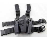 Wholesale For Glock Tactical Airsoft Drop Leg Right handed holster W Panel Mag Flashlight Pouch Belt Loop