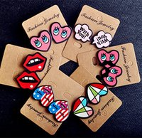earrings sexy - Fashion Sexy Lips Letter Cute Heart Stud Earrings For Women Gift Night Club Punk Jewelry Accessories