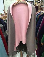 alpaca wool scarves - Winter ladies fashion brand high end luxury alpaca sable coat scarf shawl wool tassel