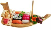 Wholesale Japanese Food Seafood Plate Restaurant Sushi Boat CM Wooden Sashimi Boat Serving Tray