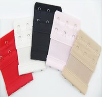 Wholesale 8 CM Ladies rows Hooks Bra Strap Long Extender Hook Clip Nude adjustable belt Buckle with multi color available for